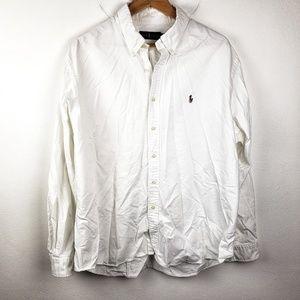 Ralph Lauren | White Casual Button Down Mens XXL